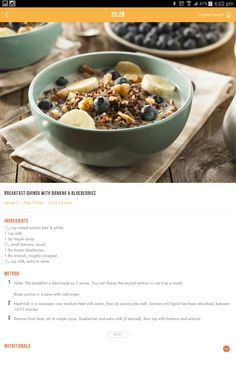 28 by sam wood Healthy Eating Recipes, Clean Recipes, Raw Food Recipes, Cooking Recipes, Healthy Foods, Detox Breakfast, Quinoa Breakfast, Breakfast Recipes, 28 By Sam Wood