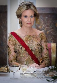 King Philippe and Queen Mathilde hosted a dinner in honor of President of Germany