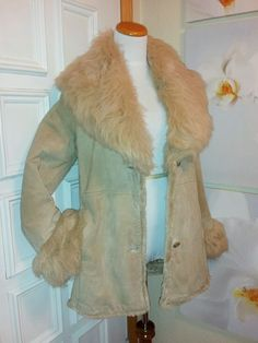 ~EUC~ Women's Vintage Wilson's Suede Leather Faux Fur Winter Jacket Coat  #WilsonsLeather #BasicCoat