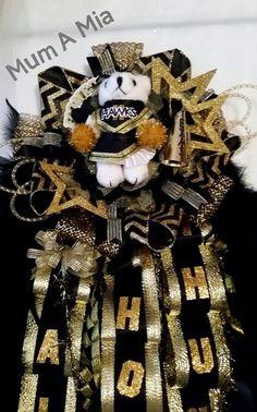 Mega Homecoming Mum Football Corsage Custom Dressed by MumAMia3