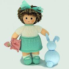 Knitted Dolls, Knitting Patterns, Diy And Crafts, Teddy Bear, Toys, Animals, Ideas, Kuchen, Dress