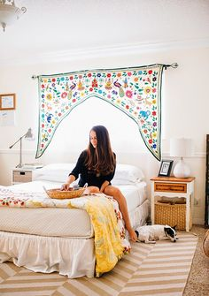 Love the valance - A Bedroom Tour