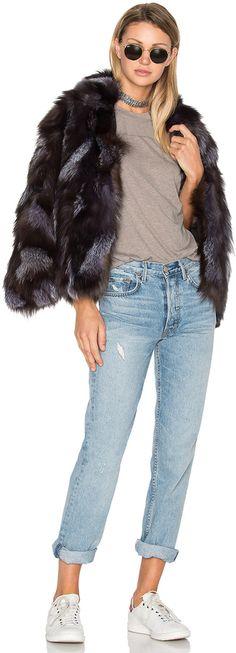 EAVES Jessa Fox Fur Jacket