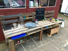 Mud Kitchen - trust me, anyone can do it if I can.  Lots of blood sweat and tears involved but I just made it up as I went along!