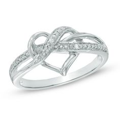 I've tagged a product on Zales: Diamond Accent Swirled Heart Ring in Sterling Silver