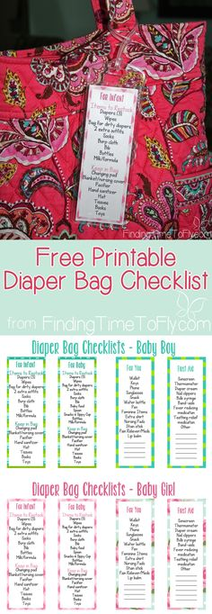 Diaper Bag Checklist  - Every new Mom needs this!!!