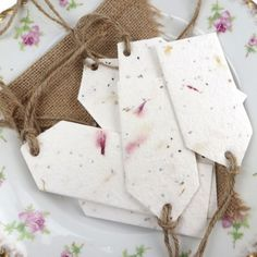 Plantable seed paper tags