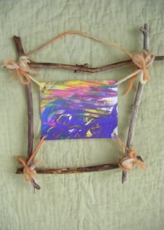 Woodland Stick Frame - I would use twine instead of yarn though.