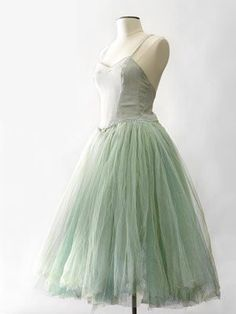 mint tulle dress (reminds me of the Carrie Bradshaw dress)