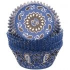Blue Bandana Cupcake Liners (16)