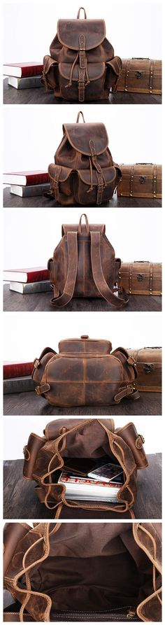 LEATHER CASUAL BACKPACK, LEATHER DESIGN, LEATHER HANDMADE BACKPACK  http://ebagsbackpack.tumblr.com/