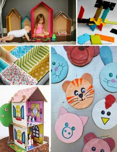 We buy a TON online, especially in recent months – and this means we have TONS of boxes. Don't throw away your cardboard – before you recycle it, play-cycle. Here are 50 things your kids will *love* to do with your excess boxes.  Card Board Toys Paper puss-n-boots. Bring life to your carboad boxes …
