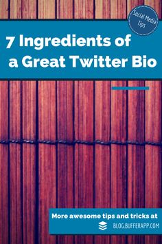 A Foolproof Method for Writing a Perfect #Twitter Bio