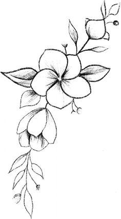 Easy Flower Drawings, Pencil Drawings Of Flowers, Flower Art Drawing, Flower Drawing Tutorials, Flower Sketches, Art Drawings Sketches Simple, Pencil Art Drawings, Cute Drawings, Painting & Drawing