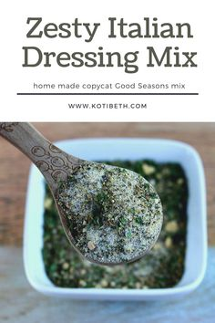 How to make zesty Italian dressing mix. This homemade zesty recipe dry can be used to make a salad dressing or used to marinate chicken. Make a copycat Good Seasons dry mix recipe. DIY zesty Italian dressing mix like DIY Good Seasons dressing. Use dried herbs and spices to make the mix now and make the dressing when you need it.  #italiandressing #mix #recipe Zesty Italian Dressing Mix Recipe, Yummy Drinks, Yummy Food, Marinated Chicken, How To Make Diy, Drying Herbs, Salad Dressing, Copycat, Spices