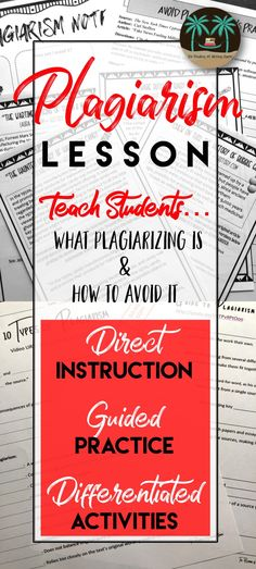 Teach students to identify and avoid plagiarizing in their writing. This resource from The Reading and Writing Haven has teacher lecture materials and guided practice activities to help middle and high school students distinguish between plagiarizing, sum Writing Strategies, Writing Lessons, Teaching Strategies, Teaching Writing, Essay Writing, Teaching English, Teaching Resources, Summary Writing, Report Writing
