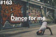because i think it's adorable when you dance.