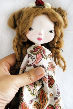 Emilia Art Doll Ooak Handmade Sculpture. Kind of makes me want to start doll making again