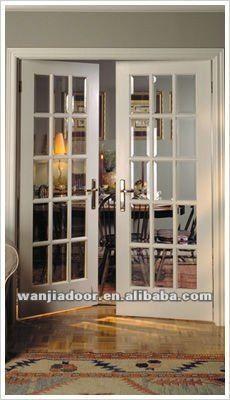 Buena calidad interior de doble francés puertas-Puerta ... Más