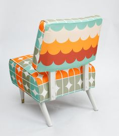 Funky Retro Slipper Chair by MsGreenDesigns. Mod Furniture, Dream Beach Houses, Vintage Chairs, Diy Chair, Decoration, Home Deco, Mid-century Modern, Nest, Design