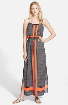 Vince Camuto 'Crossroad' Scoop Neck Maxi Dress available at #Nordstrom
