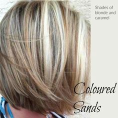 Coloured sands. Blondes with dark lowlights