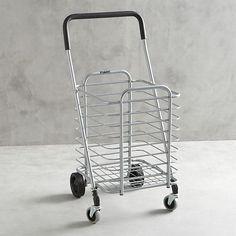 crate barrel polder folding shopping cart polder folding shopping cart
