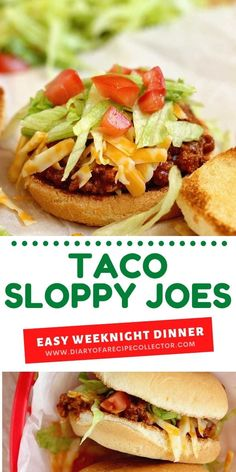 Taco Sloppy Joes - A 20 minute dinner recipe perfect for your next Taco night! Taco Sloppy Joes are a nice change up and full of flavor. Lunch Recipes, Mexican Food Recipes, Beef Recipes, Dinner Recipes, Ethnic Recipes, Top Recipes, Sandwich Recipes, Beef Dishes, Food Dishes