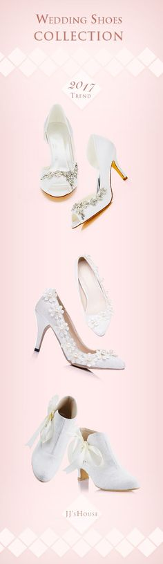 Wedding Shoe Collection 2017, we have your perfect pair! #weddingshoes