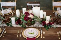 Forest Inspired Floral Table Runner | Ashley Cook Photography | https://heyweddinglady.com/jewel-toned-autumn-woodland-wedding-shoot/