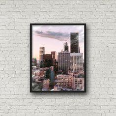 Los Angeles, California, architecture, city scape, skyline, modern print, instant download, buildings, skyscraper