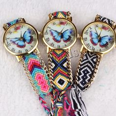 $2.83 (Buy here: https://alitems.com/g/1e8d114494ebda23ff8b16525dc3e8/?i=5&ulp=https%3A%2F%2Fwww.aliexpress.com%2Fitem%2FBrand-Luxury-Handmade-Braided-Friendship-Bracelet-Ladies-Dress-Watch-Women-Daniel-Wellington-Watch-Quarzt-DW-Watches%2F32446296021.html ) 2016 New Brand Handmade Braided Butterfly Friendship Bracelet Watch GENEVA Watches Women Quartz Watches relogio feminino for just $2.83
