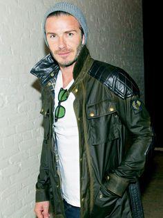 Buff in Belstaff David Beckham stepped out in NYC wearing a Belstaff Trophymaster Jacket on June 7.