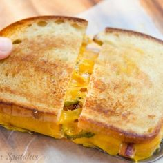 Bacon Cheddar Jalapeno Grilled Cheese Sandwich