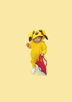 Pikachu costume Halloween onesie baby pokemon