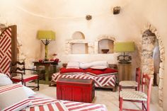 http://www.apuliarentals.com/english/trulli-for-rent-in-puglia/trulli-di-monte-reale-cisternino/ Trulli of Montereale with pool - Cisternino (Br) - 7 Sleeps. Trulli of Montereale is an ultra-luxury private villa for rent, which offers the most spectacular apulian countryside views in Itria Valley: mediterranean vegetation, plantation of oaks and olive trees, herd of horses; extending over a large area of 3 hectare between Cisternino and Ostuni area.This luxurious private villa for rent, of…