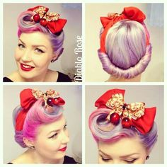 Pinup Beauty: Diablo Rose with swirl updo