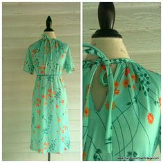 Vintage Dress  70s does 40s COFFEE and by runaroundsuevintage, $16.00