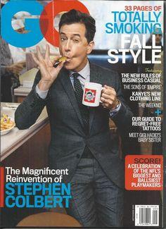 GQ magazine Stephen Colbert Joe Manganiello The Weeknd Empire Four Seasons