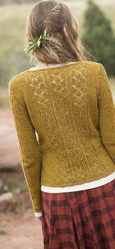 Ravelry: Aspens Cardigan pattern by Anne Podlesak