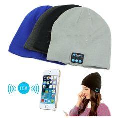 New Soft Warm Beanie Hat Wireless Bluetooth Smart Cap Headphone Headset Speaker Mic Hot PY1