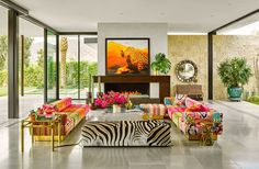 Colorful  interior d
