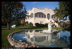 Savannah-Chanelle winery villa in Santa Cruz Mountains, California, USA