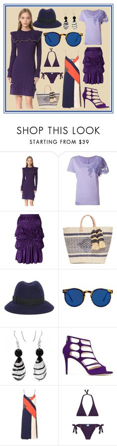 """Furious Fashion"" by cate-jennifer ❤ liked on Polyvore featuring Philosophy di Lorenzo Serafini, Ermanno Scervino, Issey Miyake, Mar y Sol, Borsalino, Spitfire, Jimmy Choo, Diane Von Furstenberg and Melissa Odabash"