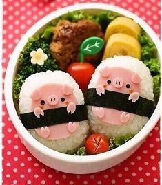 25 nápady s ríží Must See Kids Lunch Ideas For Bento Boxes Japanese Food Art, Japanese Lunch, Cute Bento Boxes, Bento Box For Kids, Lunch Kids, Bento Box Lunch, Kawaii Bento, Kawaii Pig, Bento Recipes