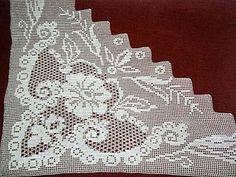 Irish Crochet Patterns, Crochet Borders, Fillet Crochet, Crochet Curtains, Ants, Cross Stitch Embroidery, Knit Crochet, Knitting, Home Decor