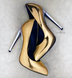 Gold and Silver Heels