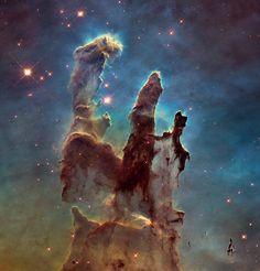 Hubble 25th Anniversary: Pillars of Creation - Image Credit: NASA, ESA, and The Hubble Heritage Team (STScI / AURA)