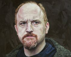 Louis CK Print from original oil painting by Cara & Louie - 13x19in