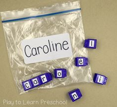 Easy Do-It-Yourself Name Activities for Preschoolers Name Writing Activities, Preschool Writing, Preschool Learning, Learning Activities, Preschool Language Activities, Alphabet Activities For Preschoolers, Phonics For Preschool, Preschool Classroom Centers, Home Preschool